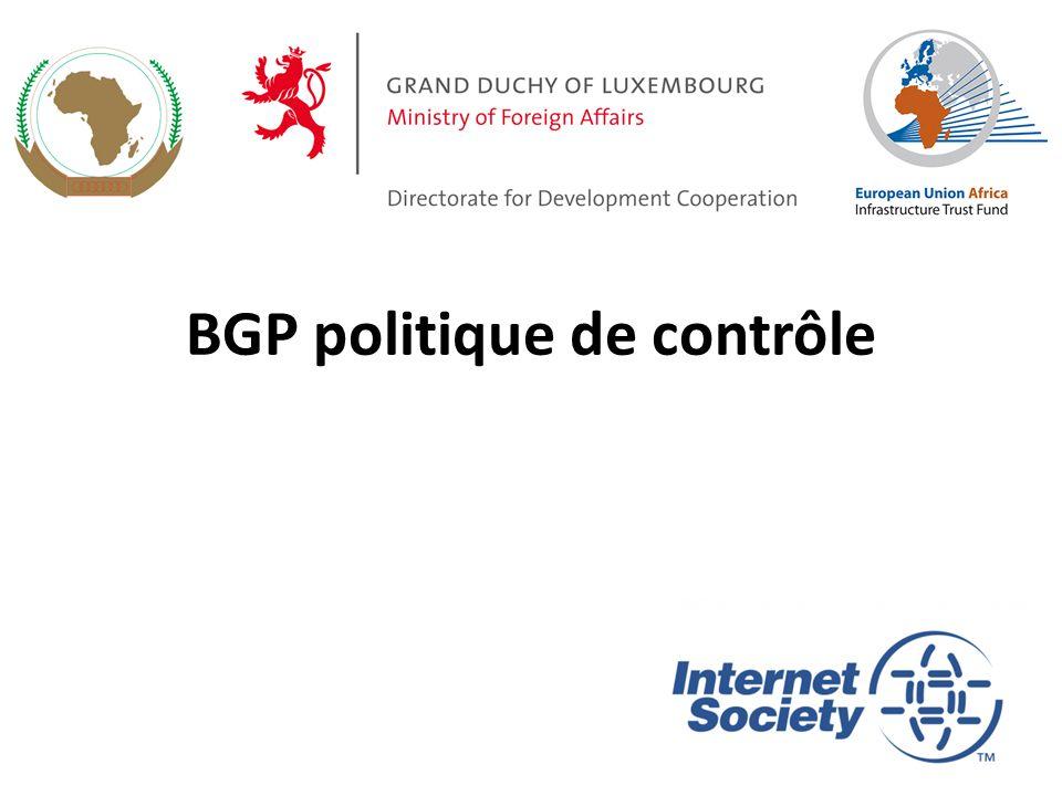 BGP politique de contrôle 1