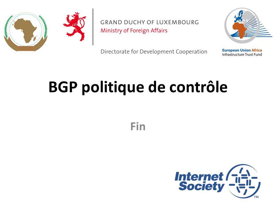 BGP politique de contrôle Fin 25