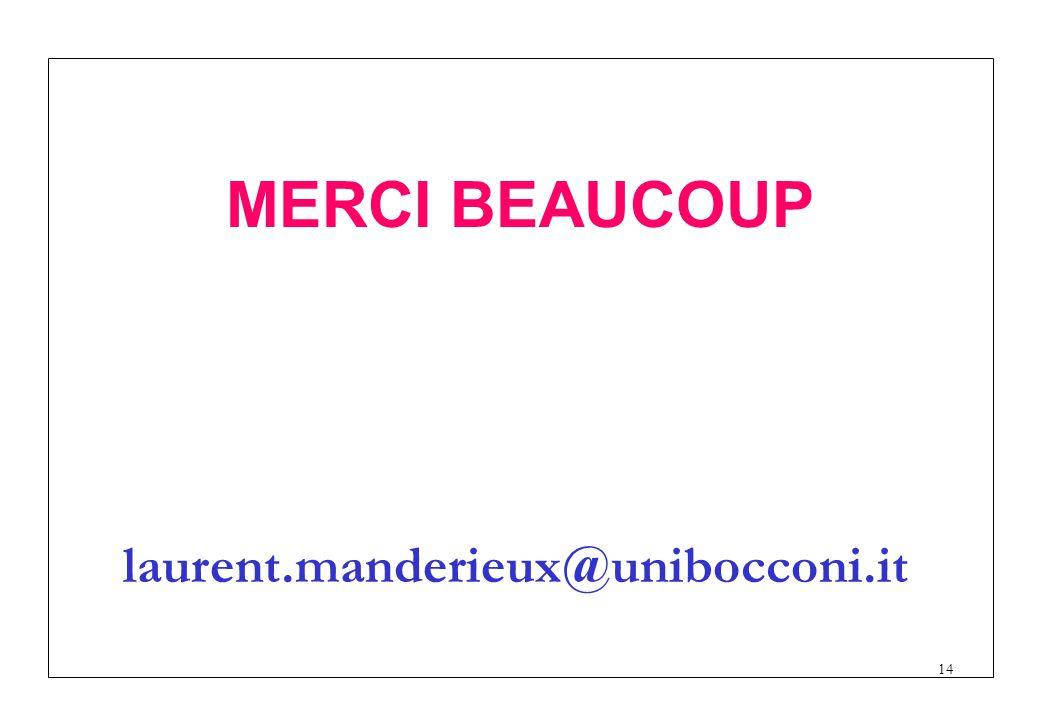 14 MERCI BEAUCOUP laurent.manderieux@unibocconi.it
