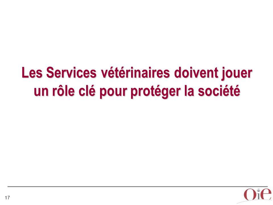 17 Les Services vétérinaires doivent jouer un rôle clé pour protéger la société