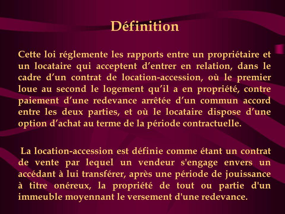 La location-accession ne constitue pas une opération de leasing  Il s'agit d'une transaction immobilière et non d'une opération financière comme le leasing (crédit-bail dans la terminologie marocaine).