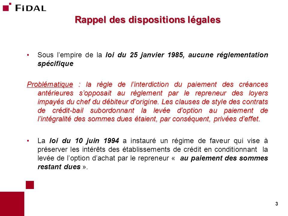 Rappel des dispositions légales (suite) Article L.