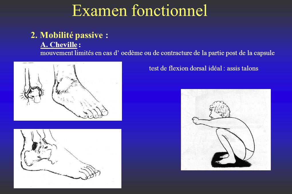 Examen fonctionnel 2.Mobilité passive : A.