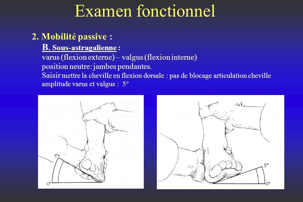 Examen fonctionnel 2.Mobilité passive : B.