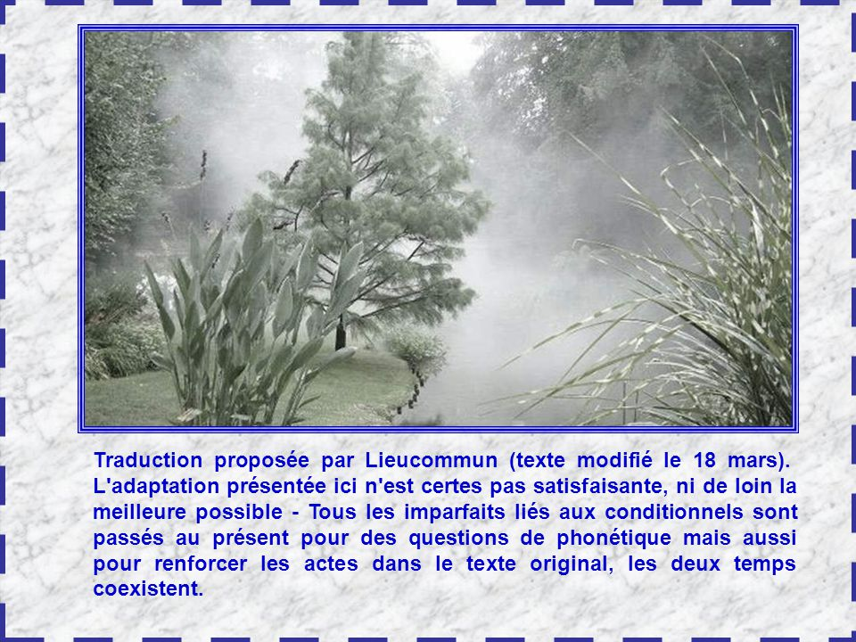 Traduction proposée par Lieucommun (texte modifié le 18 mars).