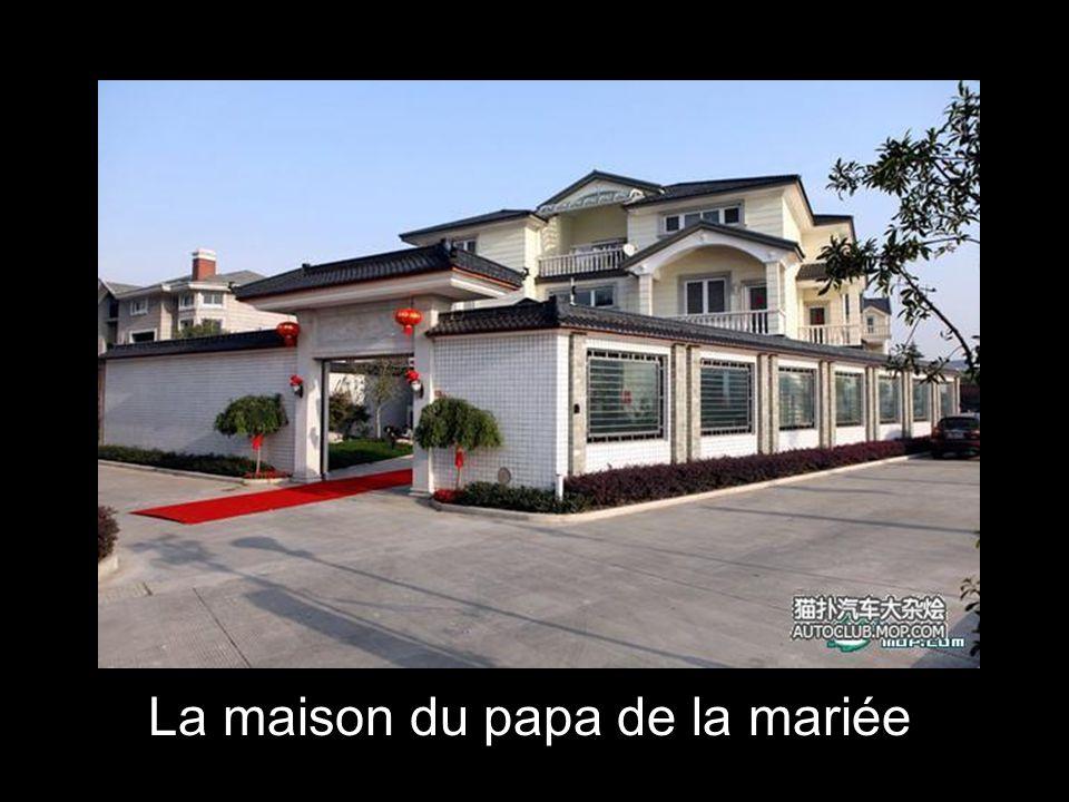 La maison du papa de la mariée