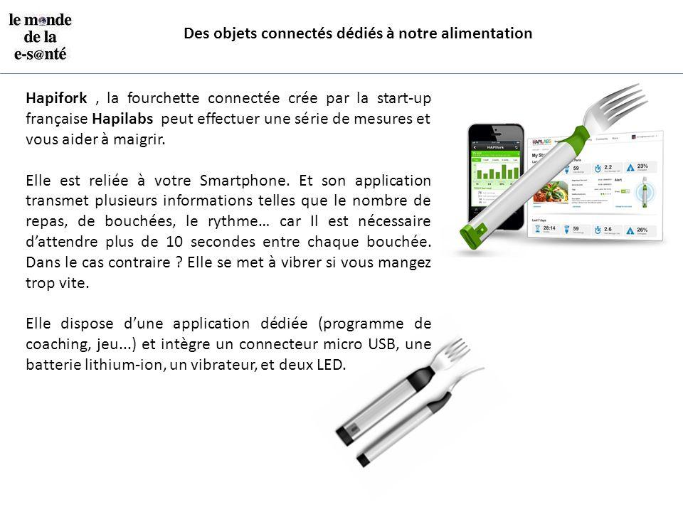 Hapifork, la fourchette connectée crée par la start-up française Hapilabs peut effectuer une série de mesures et vous aider à maigrir. Elle est reliée