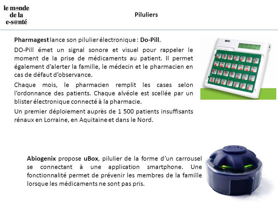 Piluliers Pharmagest lance son pilulier électronique : Do-Pill. DO-Pill émet un signal sonore et visuel pour rappeler le moment de la prise de médicam