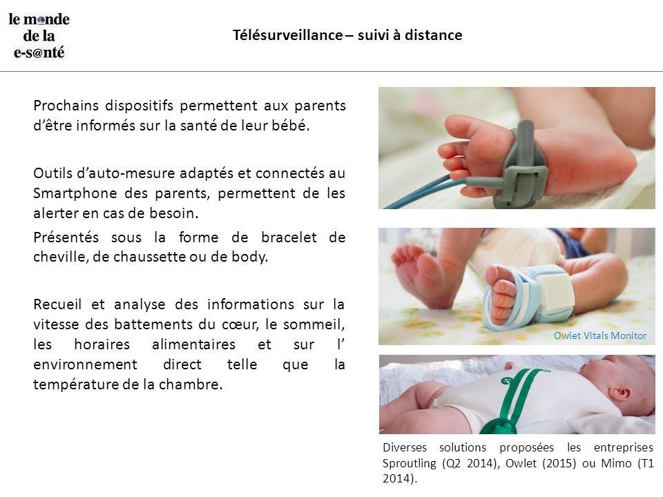 Télésurveillance – suivi à distance Prochains dispositifs permettent aux parents d'être informés sur la santé de leur bébé. Outils d'auto-mesure adapt