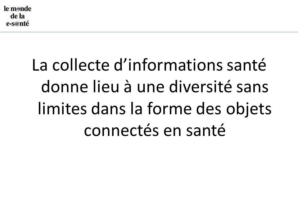 La collecte d'informations santé donne lieu à une diversité sans limites dans la forme des objets connectés en santé