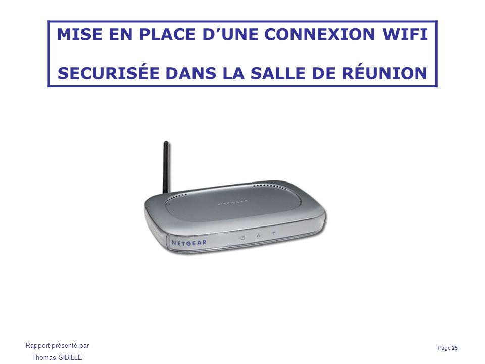 Page 25 Rapport présenté par Thomas SIBILLE MISE EN PLACE D'UNE CONNEXION WIFI SECURISÉE DANS LA SALLE DE RÉUNION