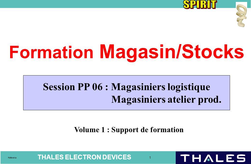 THALES ELECTRON DEVICES 12 Référence Magasins WM