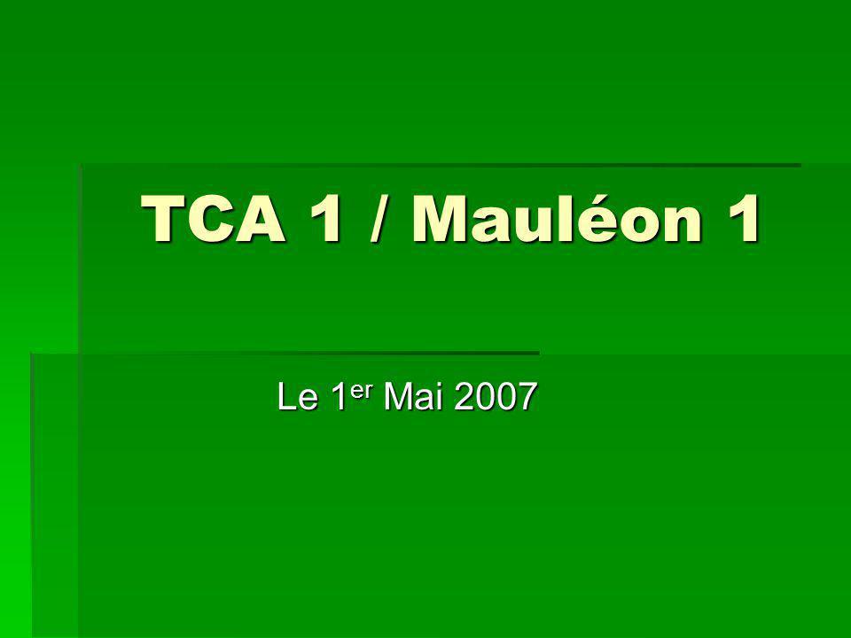 TCA 1 / Mauléon 1 Le 1 er Mai 2007