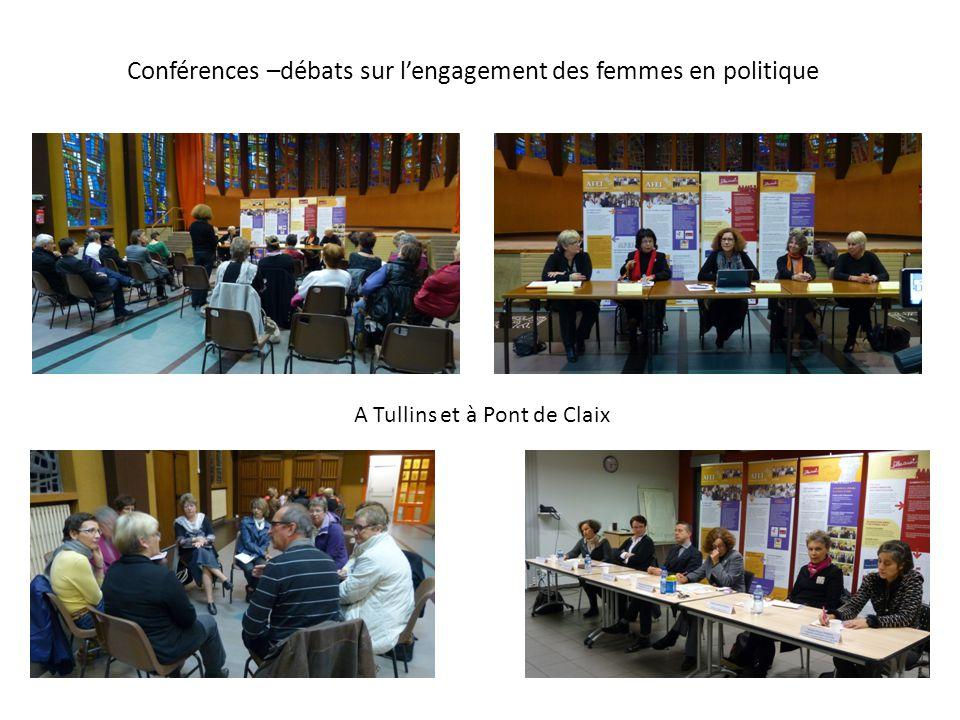 Conférences –débats sur l'engagement des femmes en politique A Tullins et à Pont de Claix