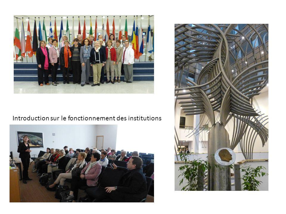 Introduction sur le fonctionnement des institutions