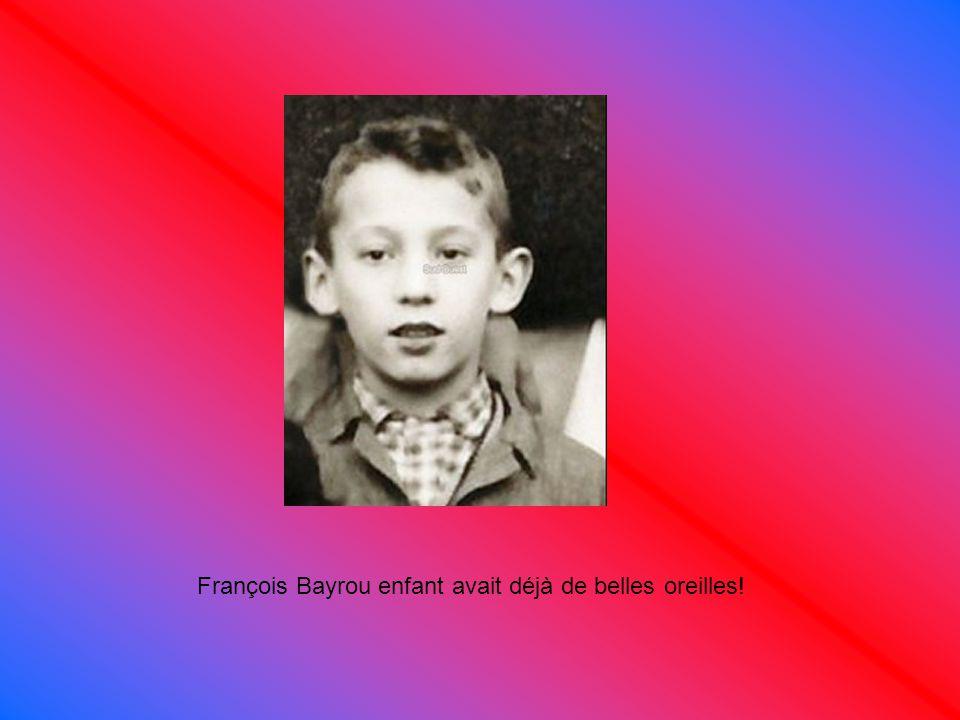 François Bayrou enfant avait déjà de belles oreilles!