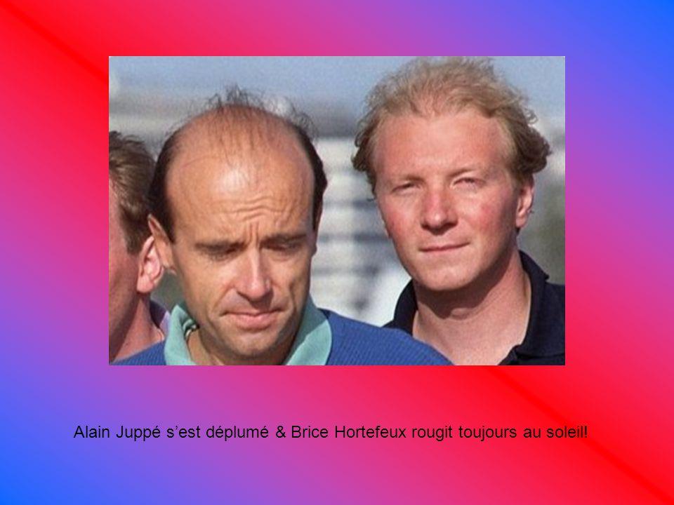Alain Juppé s'est déplumé & Brice Hortefeux rougit toujours au soleil!