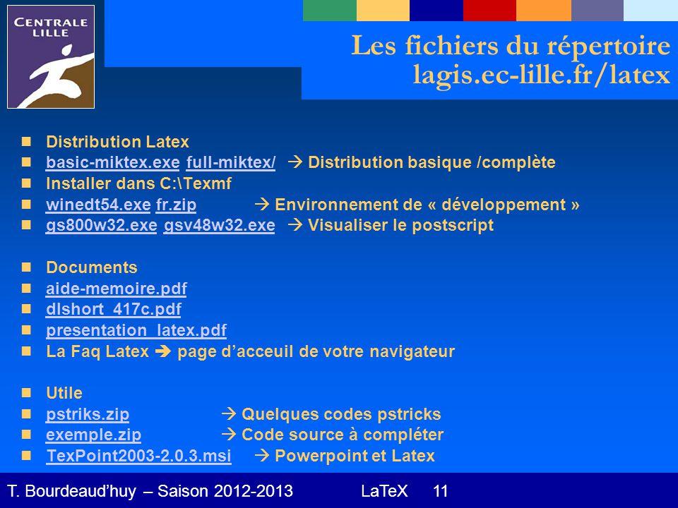 LaTeX 11 T.