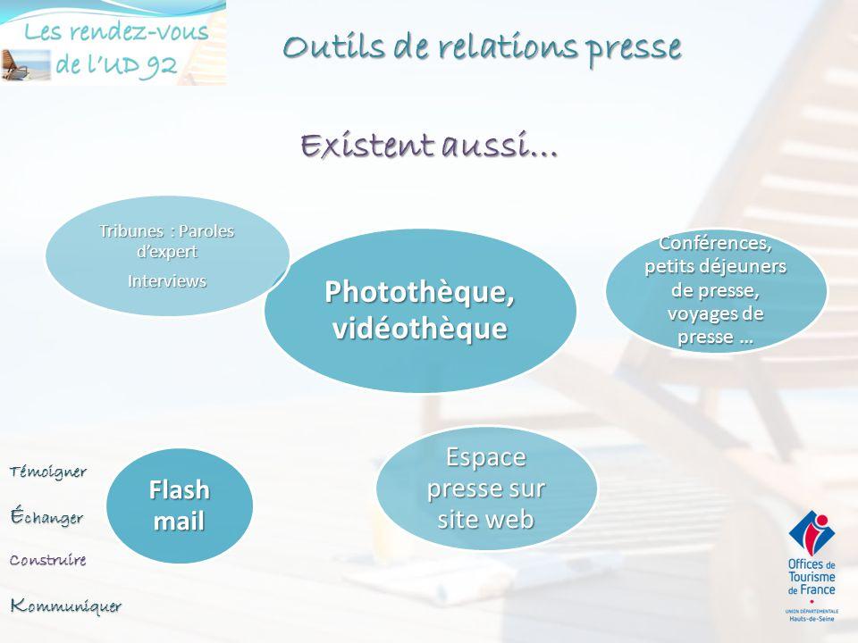 Outils de relations presse Communiqué : Information ponctuelle Dossier de presse : Information de fond Communiqué Date – Logo – Mention CP Titre Chape