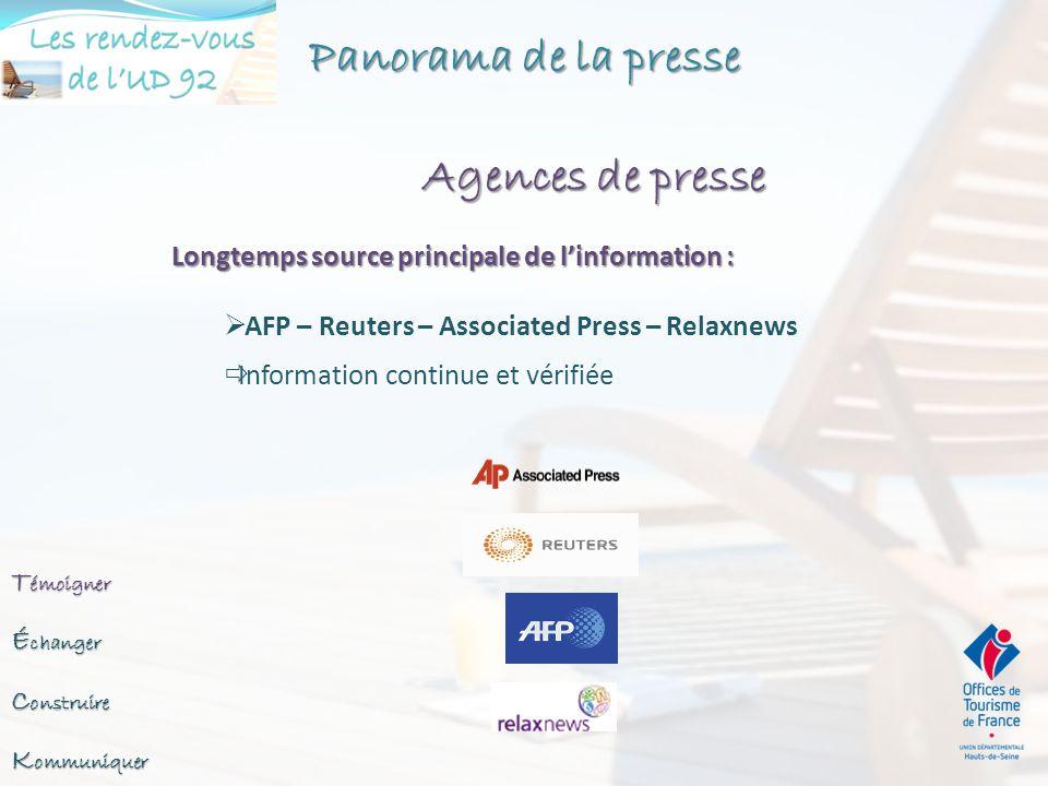  Via une agence de RP ◦ « classique » ou en ligne  Vous-même ◦ Kiosques ◦ Émissions tv, radio, internet ◦ Blogueurs (http://labs.ebuzzing.fr/top-blogs)http://labs.ebuzzing.fr/top-blogs ◦ Salons, événements ◦ Associations journalistes ◦ Agences de presse spécialisées (Relaxnews, AFP)RelaxnewsAFP Débutez avec 10/20 supports