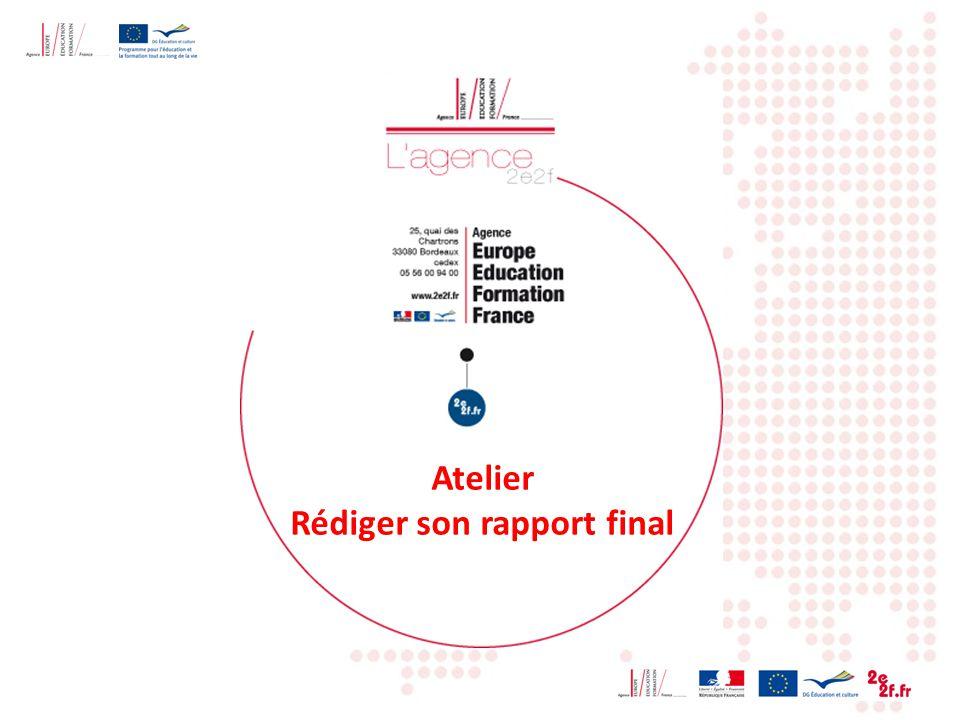 Atelier Rédiger son rapport final