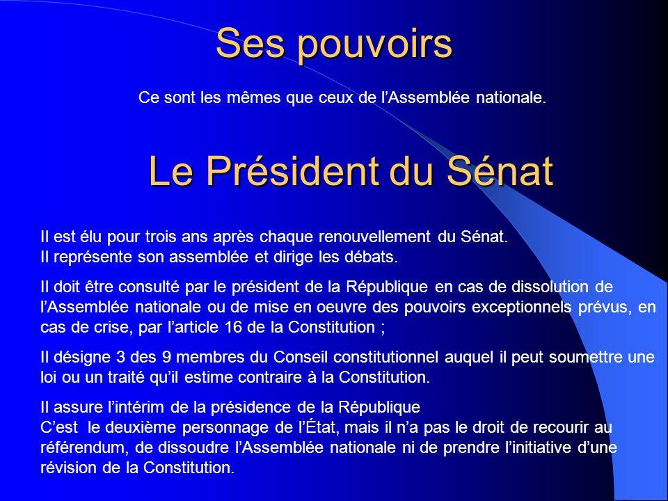 Sa composition Le Sénat est composé de 321 sénateurs Les sénateurs sont élus au suffrage universel indirect pour neuf ans par un collège électoral com