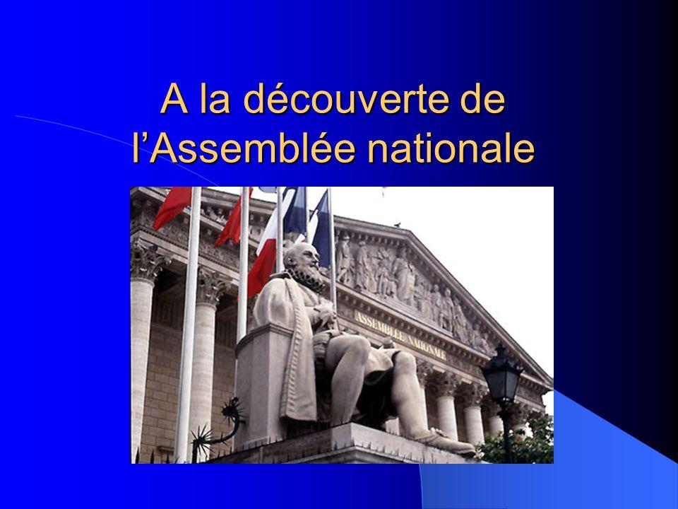 Le vote d'une loi Qui propose une nouvelle loi ? Le gouvernementL'Assemblée nationaleLe Sénat Examen par le Parlement Dépôt sur le Bureau de l'Assembl