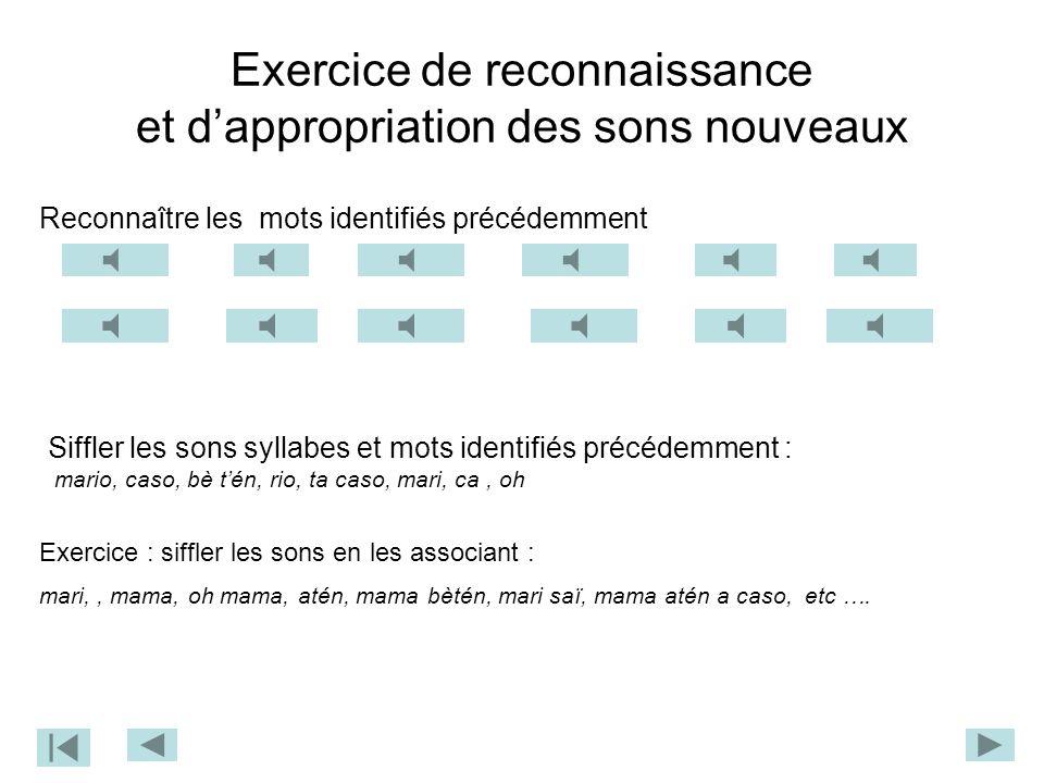 Séquence n°2 à partir d'une phrase sifflée identifier les groupes de mots, puis les mots utilisés établir la relation son parlé – son sifflé Phase d'é