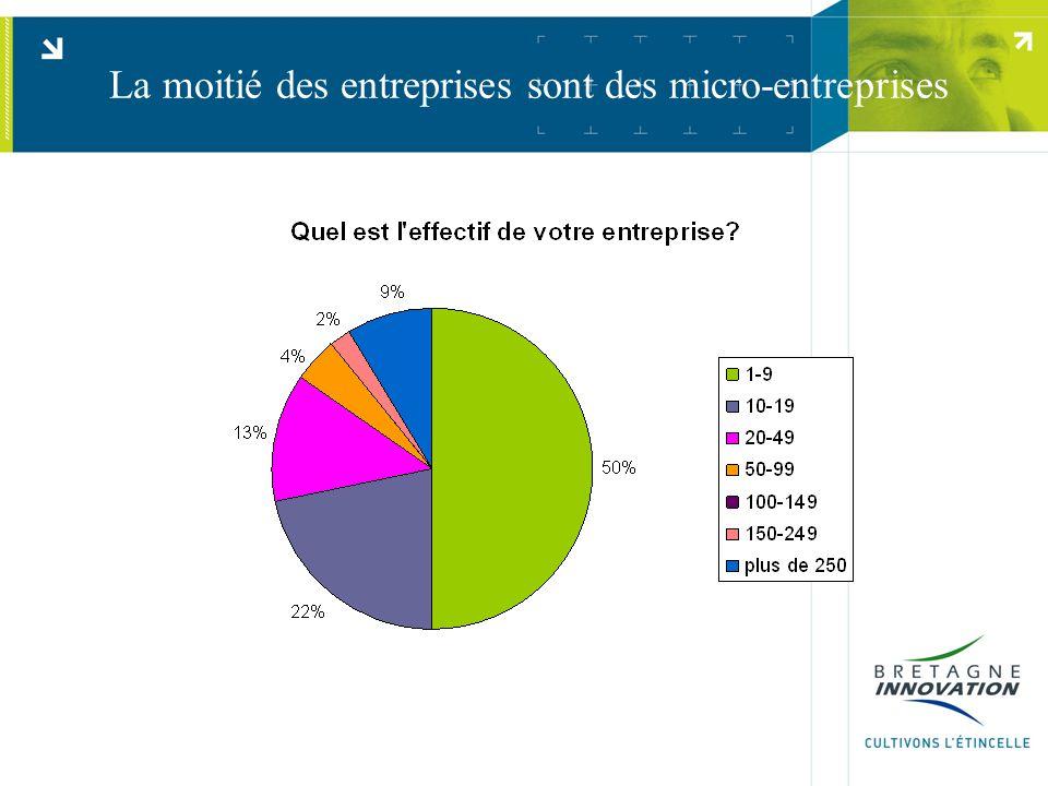 La moitié des entreprises sont des micro-entreprises