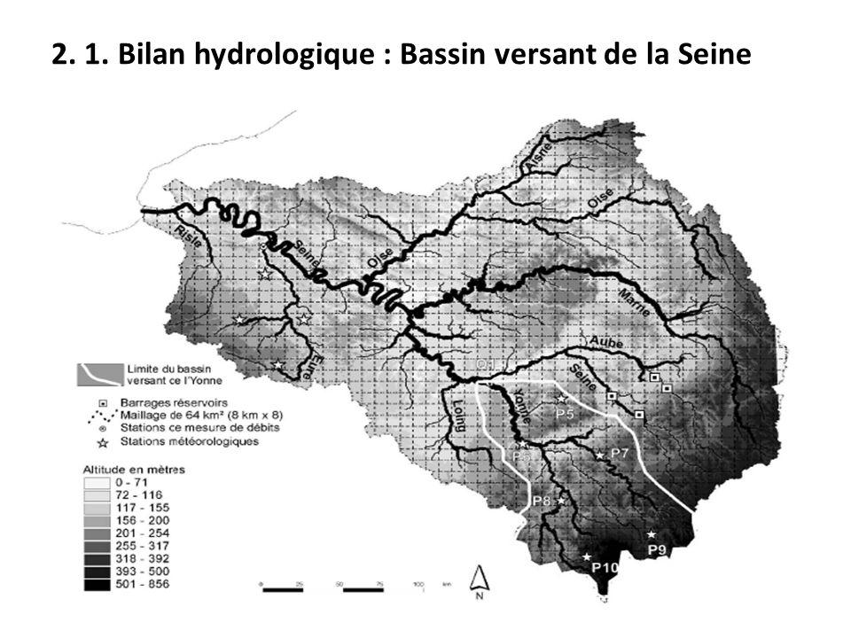 2. 1. Bilan hydrologique : Bassin versant de la Seine