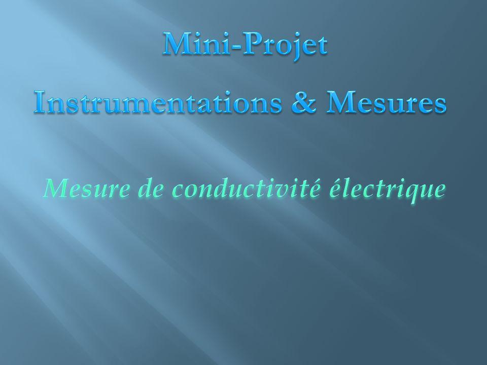 Mesurer l'évolution de la résistivité en fonction de la température Mesure de la résistance d'un échantillon en fonction de la température Résistance ( Ω ) Longueur de l'échantillon (m) Résistivité ( Ω.m) Section de l'échantillon (m²)