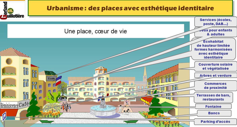 Le 22/08/2014 http://www.ucil.fr/commissions-2/ecologie-urbaine Urbanisme : des places avec esthétique identitaire Ecohabitat de hauteur limitée forme