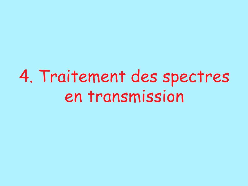 4. Traitement des spectres en transmission