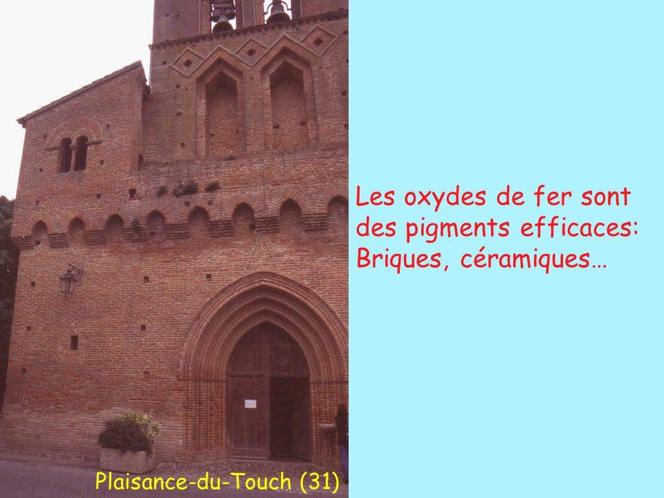 Les oxydes de fer sont des pigments efficaces: Briques, céramiques… Plaisance-du-Touch (31)