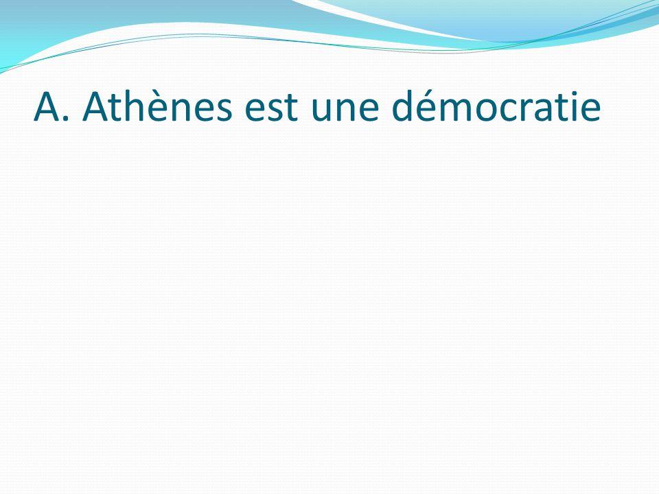 A. Athènes est une démocratie