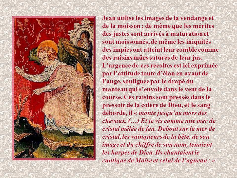 Après avoir évoqué le jugement particulier prononcé à la mort de chaque individu, Jean, dans une vision plus eschatologique, dépeint le jugement génér