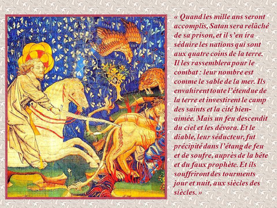 « Alors je vis le ciel ouvert : c'était un cheval blanc, celui qui le monte se nomme Fidèle et Véritable.