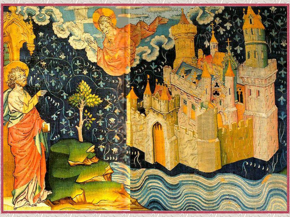Dans les chapitres précédents, il a été montré à saint Jean Babylone la prostituée, à la fois ville et femme du mal. Mais voici que maintenant on lui