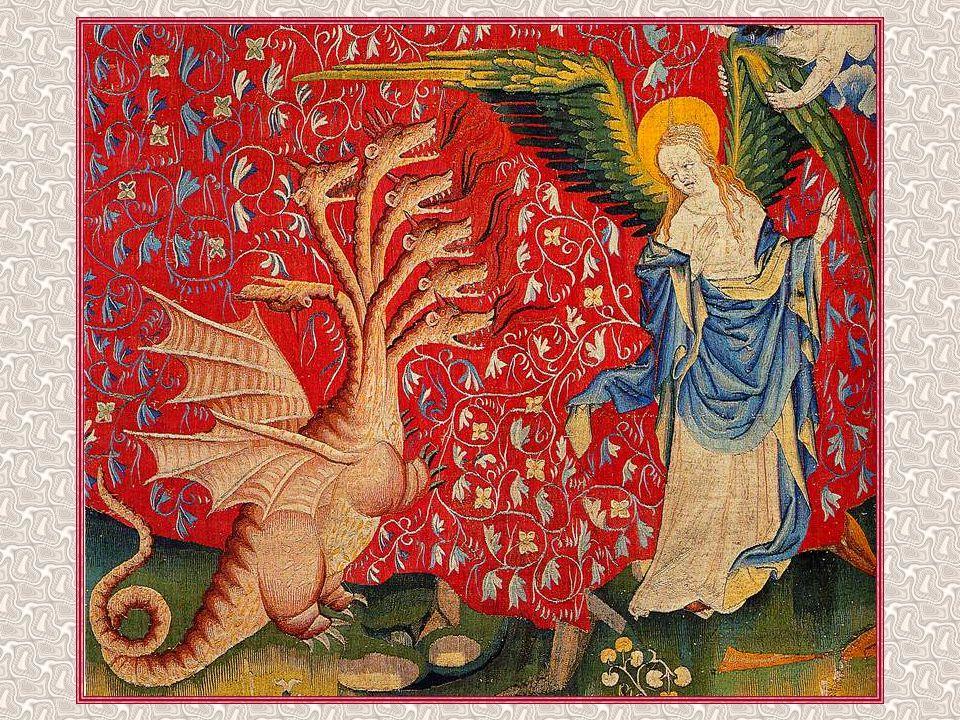 Après un intermède de paix, « l'un des quatre animaux donna aux sept anges des coupes d'or, remplies de la colère de Dieu.