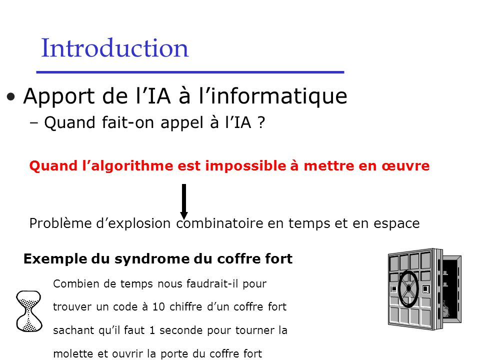 Apport de l'IA à l'informatique –Quand fait-on appel à l'IA .