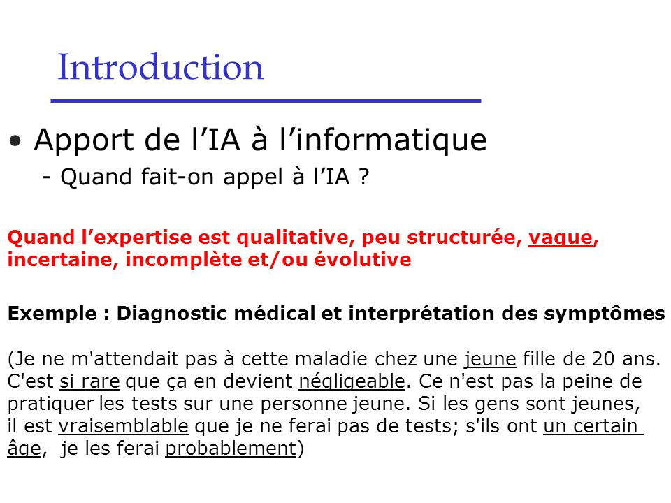 Apport de l'IA à l'informatique - Quand fait-on appel à l'IA .