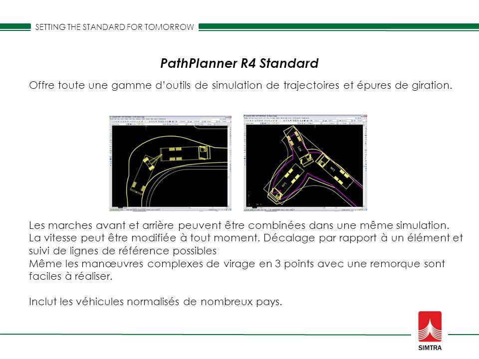 Les marches avant et arrière peuvent être combinées dans une même simulation. La vitesse peut être modifiée à tout moment. Décalage par rapport à un é
