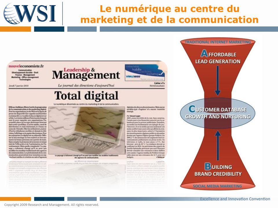 Le numérique au centre du marketing et de la communication