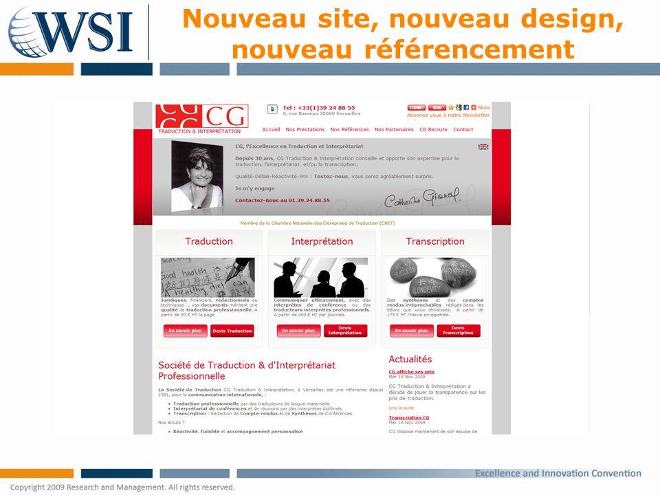Nouveau site, nouveau design, nouveau référencement