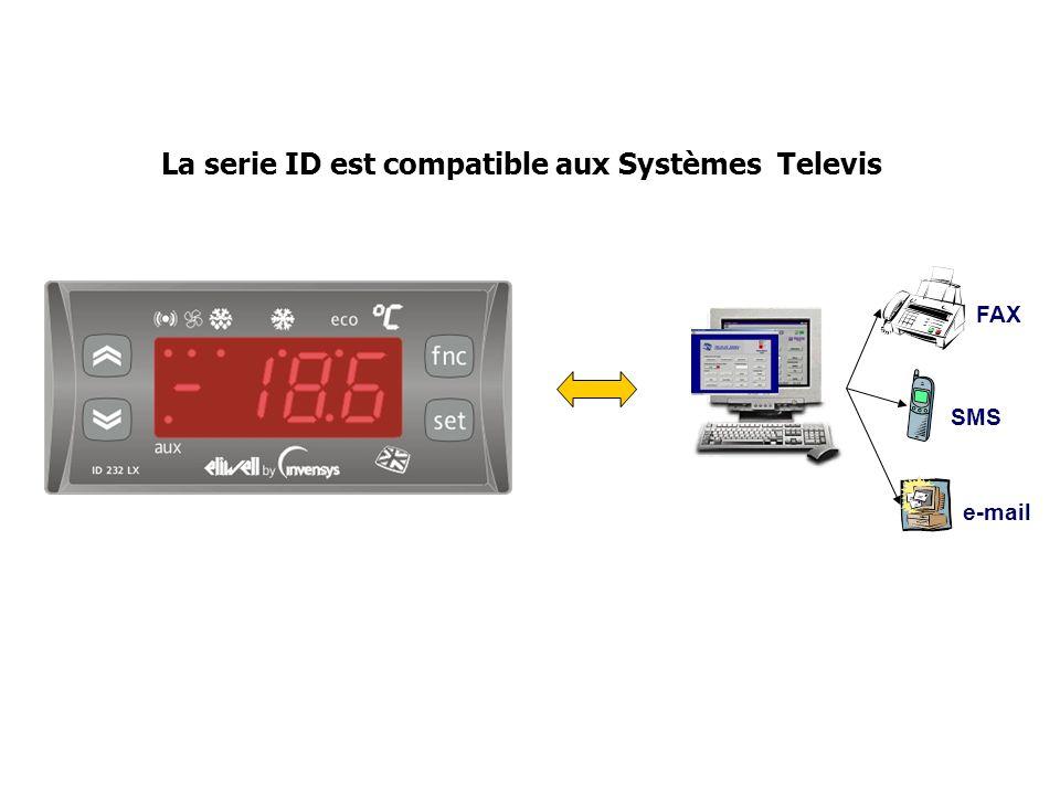 La serie ID est compatible aux Systèmes Televis FAX SMS e-mail