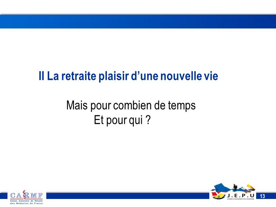 CDT 2013 13 II La retraite plaisir d'une nouvelle vie Mais pour combien de temps Et pour qui ?