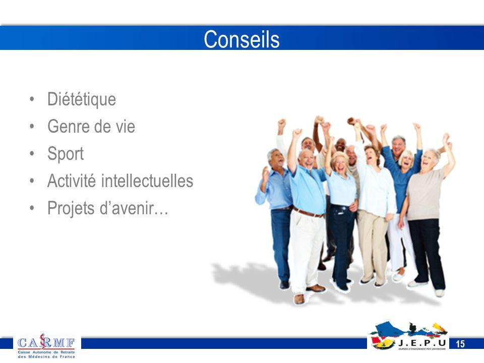 CDT 2013 15 Conseils Diététique Genre de vie Sport Activité intellectuelles Projets d'avenir…