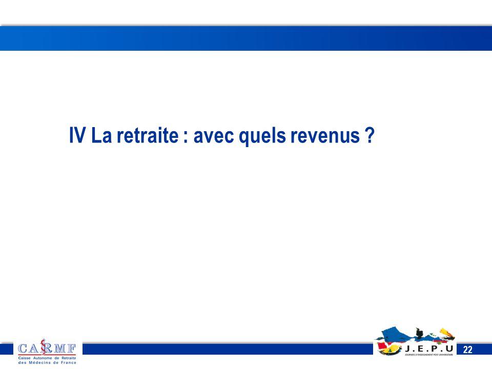 CDT 2013 22 IV La retraite : avec quels revenus ?