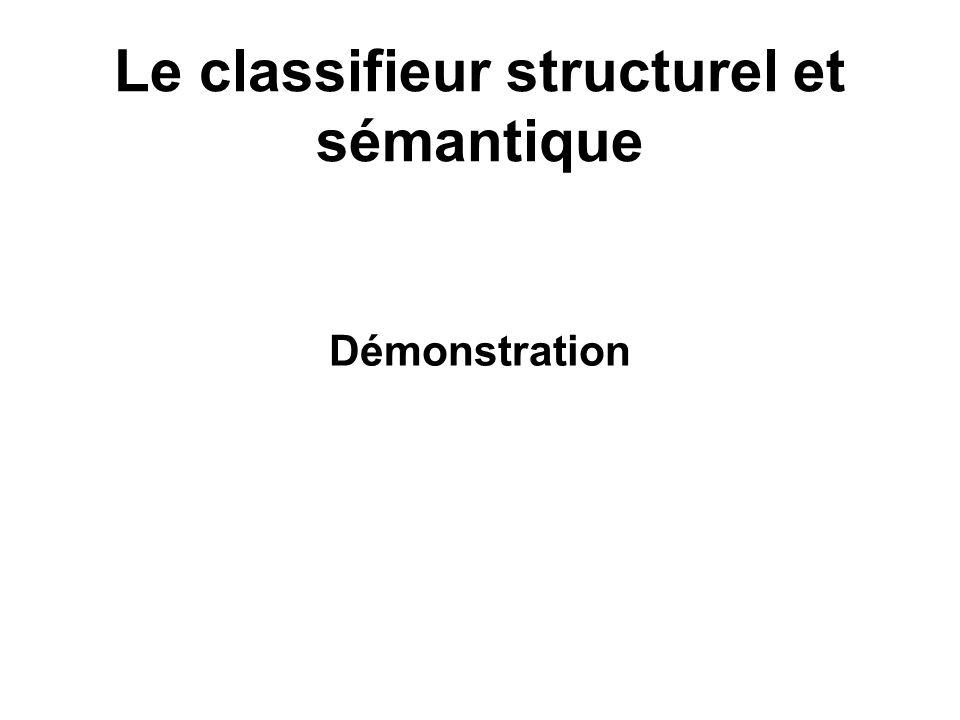 Le classifieur structurel et sémantique Démonstration