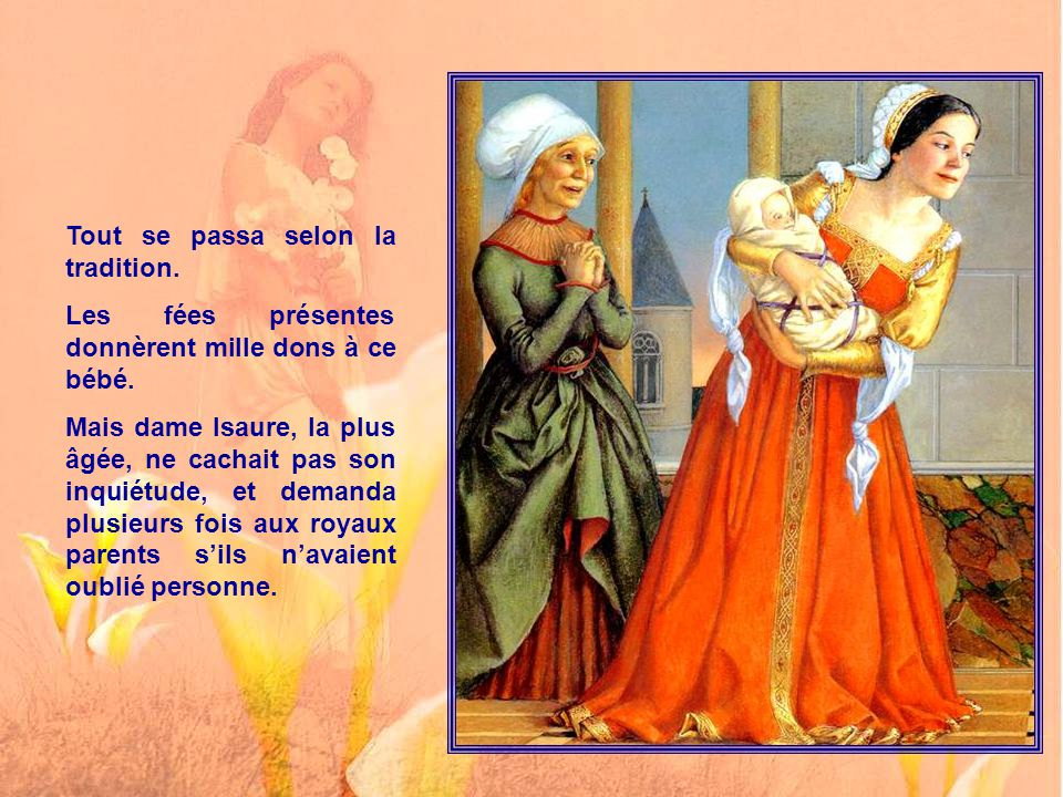 Lorsque Guenièvre naquit, vous savez bien comment cela se passe d'ordinaire dans les contes et dans les châteaux, on fit une grande fête à laquelle on invita, bien sûr, toutes les fées et tous les magiciens du royaume.
